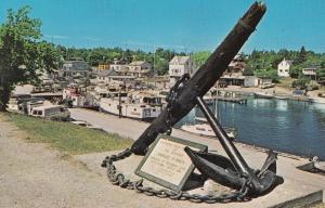 Little Tub Harbour Giant Anchor Tobermory Ontario Canada Postcard