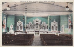 Miami , Florida , 30-40s ; Gesu Catholic Church , Interior