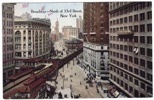 New York, Broadway - North of 33rd Street