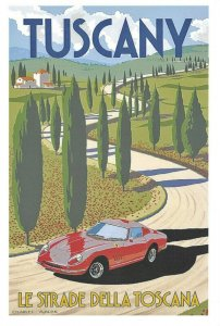 NEW Reproduction Tuscany Italy Travel Poster Postcard DM7