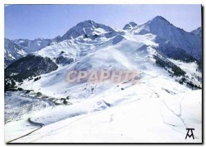Modern Postcard The Pyrenees The Niege Val Louron General view tracks