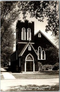WAHPETON, North Dakota RPPC Real Photo Postcard BETHEL LUTHERAN CHURCH c1940s