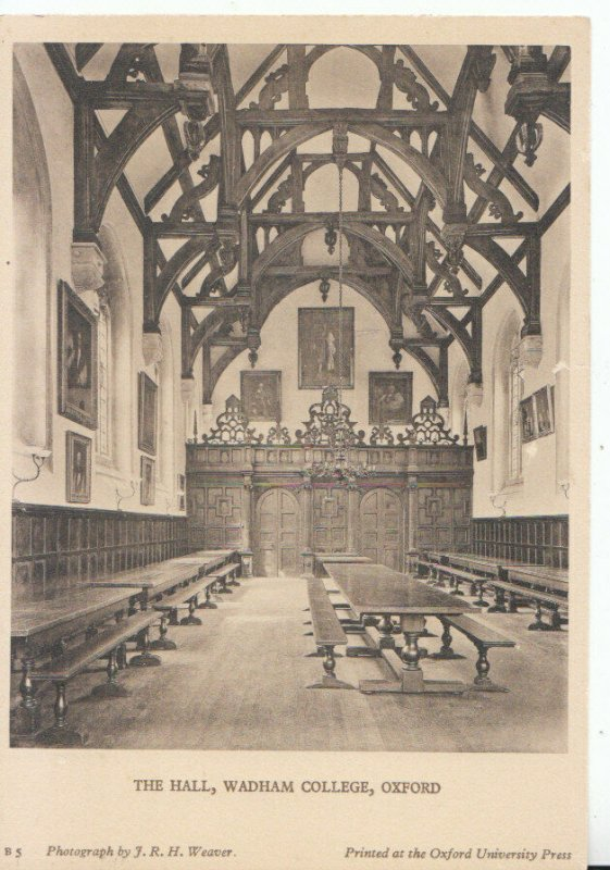 Oxfordshire Postcard - The Hall - Wadham College - Oxford - Ref 20311A