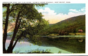 Massachusetts West Becket Jacob's Ladder Roadway Greenwater Pond and Clu...
