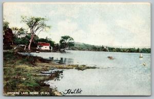 Wynantskill Rensselaer County New York~Snyders Lake~Lake House~Sailboat~1907 PC
