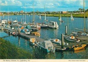 Postcard Ireland Londonderry marina ships