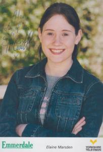 Samantha McCarthy Elaine Marsden Emmerdale Farm Hand Signed Cast Card Photo