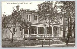 Berlin WI~Yates Memorial Hospital~Victorian Porch~Griffin's Variety Store~1908
