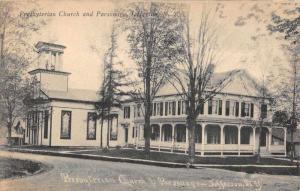 Jefferson New York Presbyterian Church Parsonage Antique Postcard K72936
