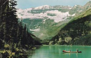 Canada Alberta Lake Louise And Victoria Glacier Banff National Park 1968