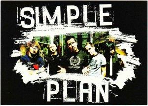 Simple Plan Band Portrait Postcard Scratched