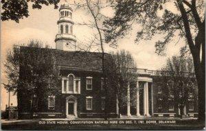 Vtg 1940s Old State House Dover Delaware DE Mayrose Co Unused Postcard