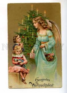 240343 CHRISTMAS X-Mas GUARDIAN ANGEL Kids GIFTS Old EMBOSSED