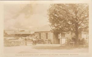 RP: Horse Drawn Wagons, Village Blacksmith Shop, Greenfield Village, Dearborn...