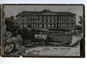 173414 CZECH GRUSS aus NIEMES Mimon Vintage postcard
