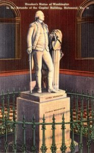 Virginia Richmond Houdon's Statue Of Washington In Rotunda Of Capitol Bu...