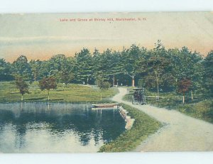 Divided-back NATURE SCENE Manchester New Hampshire NH AD5040