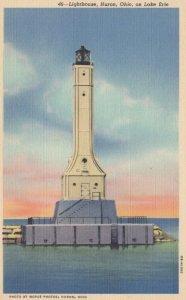 HURON,Ohio, 1930-1940s ; Lighthouse