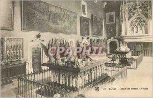 Postcard Dijon Old Guard Room (Museum)
