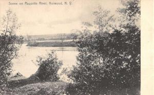 Norwood New York Raquette River Waterfront Antique Postcard K89187