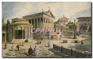 Old Postcard Roma Il Foro Romano