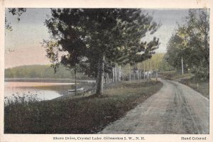 LPS28 Gilmanton Iron Works New Hampshire Crystal Lake Shore Dr. Hand Colored PC