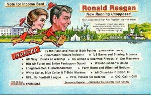 Political Humour Ronald Reagan Income Bent