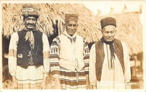 Seminole Indian Medicine Men RPPC Postcard