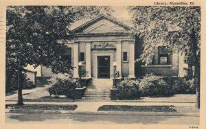 MARSEILLES, Illinois, PU-1945; Library