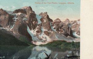 ALBERTA, Canada, PU-1911; Valley Of The Ten Peaks