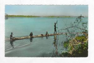 RP  L´Afrique en Couleurs - Congo Belge - Pirogue sur le Fleuve, 30-40s