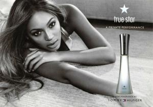 Advertising Postcard, Beyonce, True Star by Tommy Hilfiger 30R