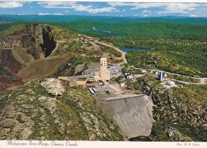 Aerial view,  Michipicoten Iron Range,  Ontario,  Canada,  50-70s