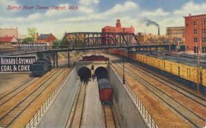 Detroit River Tunnel Detroit MI Michigan Vintage Postcard D23