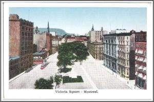 Montreal Canada - Victoria Square Postcard