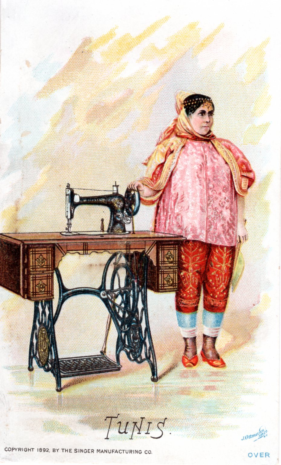 Trade Card Singer Sewing Machines American Song Bird Scarlet Tanager #3
