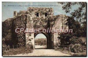 Old Postcard Provins Exterior View De La Porte Saint Jean