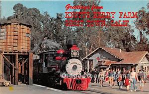Knott's Berry Farm, Ghost Town, California, CA, USA Postcard Train Old 4...