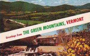 Covered Bridge Greetings From The Green Mountains Vermont