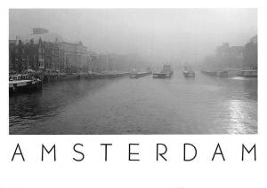 Netherlands Amsterdam Amstel Locks River Boats Panorama