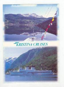 KRISTINA Cruises, Ship in harbour, Finland Cruise ship line 1980s #2
