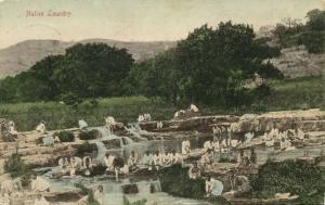 south africa, Native Laundry, Washing (1905) Sallo Epstein & Co. Postcard