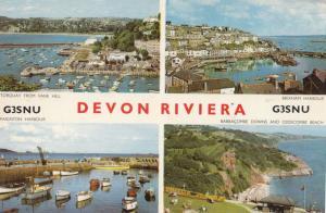 Devon Riviera QSL G3SNU Amateur Radio 1960s Postcard