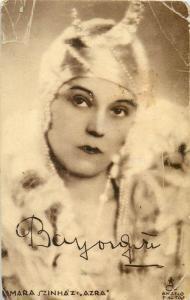 Actress signature autograph Kamara Szinhaz Azra Hungary visible damages