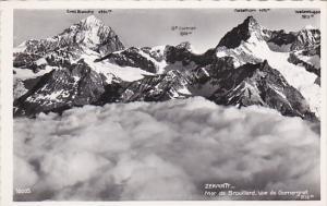 RP, Mer De Brouillard, Vue Du Gornergrat, ZERMATT (Valais), Switzerland, 1920...