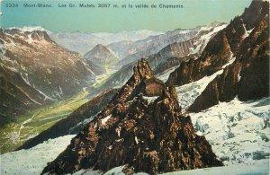 Europe Switzerland Postcard Mont Blanc 3057m