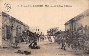 Djibouti Souvenir, Une rue du Village Indigene, Postcard