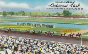DENVER, Colorado, 50-60s ; Horse Race Track