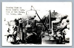 VAN BUREN ARK UNCLE HINK'S FARM CANNING TIME VINTAGE REAL PHOTO POSTCARD RPPC