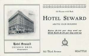 SEATTLE , Washington , 1900-10s ; Hotel Seward